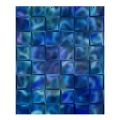 Blue Squares Tiles Shower Curtain 60  X 72  (medium)