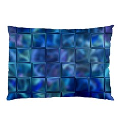 Blue Squares Tiles Pillow Cases (two Sides)