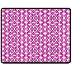 Cute Pretty Elegant Pattern Double Sided Fleece Blanket (Medium)