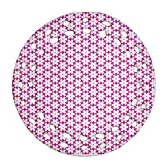 Cute Pretty Elegant Pattern Ornament (Round Filigree)