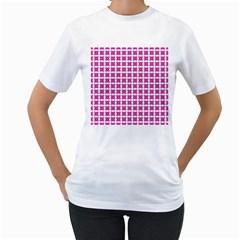 Cute Pretty Elegant Pattern Women s T-Shirt (White) (Two Sided)