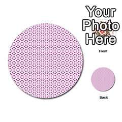 Cute Pretty Elegant Pattern Multi Purpose Cards (round)