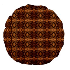 Faux Animal Print Pattern Large 18  Premium Flano Round Cushions