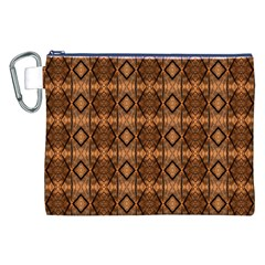 Faux Animal Print Pattern Canvas Cosmetic Bag (XXL)