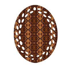 Faux Animal Print Pattern Oval Filigree Ornament (2 Side)