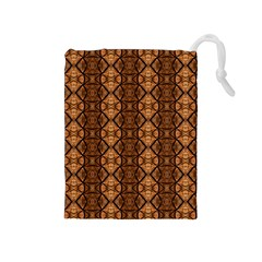 Faux Animal Print Pattern Drawstring Pouches (Medium)