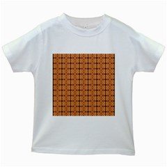 Faux Animal Print Pattern Kids White T-Shirts