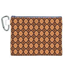 Faux Animal Print Pattern Canvas Cosmetic Bag (XL)