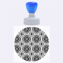 Faux Animal Print Pattern Rubber Round Stamps (large)