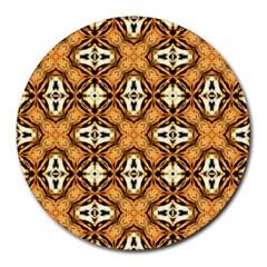 Faux Animal Print Pattern Round Mousepads