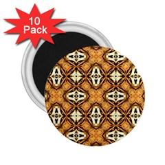 Faux Animal Print Pattern 2 25  Magnets (10 Pack)
