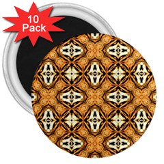 Faux Animal Print Pattern 3  Magnets (10 Pack)