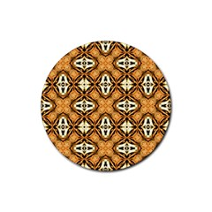 Faux Animal Print Pattern Rubber Coaster (round)