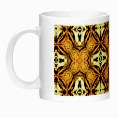 Faux Animal Print Pattern Night Luminous Mugs