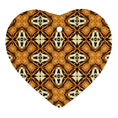 Faux Animal Print Pattern Heart Ornament (2 Sides)