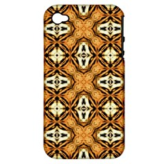 Faux Animal Print Pattern Apple Iphone 4/4s Hardshell Case (pc+silicone)