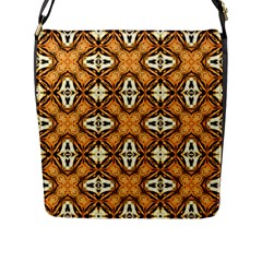 Faux Animal Print Pattern Flap Messenger Bag (l)