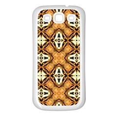 Faux Animal Print Pattern Samsung Galaxy S3 Back Case (white)