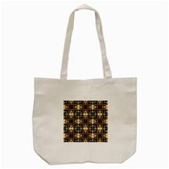 Faux Animal Print Pattern Tote Bag (Cream)