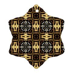 Faux Animal Print Pattern Snowflake Ornament (2-Side)