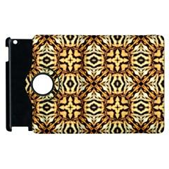 Faux Animal Print Pattern Apple Ipad 2 Flip 360 Case