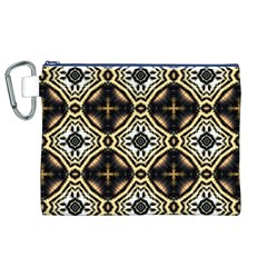 Faux Animal Print Pattern Canvas Cosmetic Bag (XL)