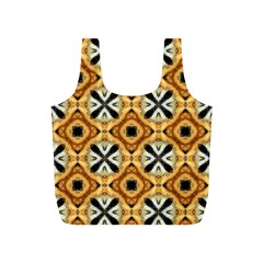 Faux Animal Print Pattern Full Print Recycle Bags (s)