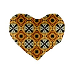 Faux Animal Print Pattern Standard 16  Premium Flano Heart Shape Cushions