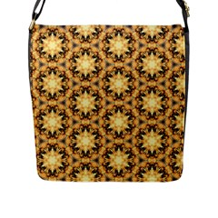 Faux Animal Print Pattern Flap Messenger Bag (l)