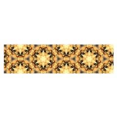 Faux Animal Print Pattern Satin Scarf (Oblong)