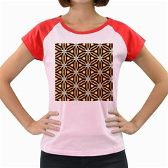 Faux Animal Print Pattern Women s Cap Sleeve T Shirt