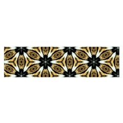 Faux Animal Print Pattern Satin Scarf (Oblong)