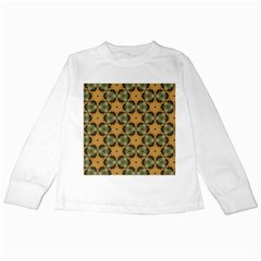 Faux Animal Print Pattern Kids Long Sleeve T Shirts