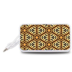 Faux Animal Print Pattern Portable Speaker (White)