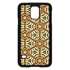 Faux Animal Print Pattern Samsung Galaxy S5 Case (Black)