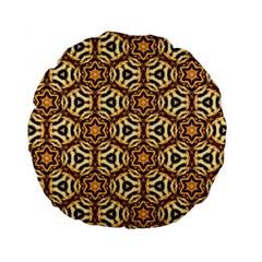 Faux Animal Print Pattern Standard 15  Premium Flano Round Cushions