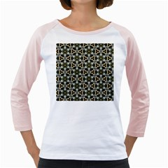 Faux Animal Print Pattern Girly Raglans
