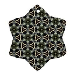 Faux Animal Print Pattern Ornament (snowflake)