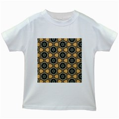 Faux Animal Print Pattern Kids White T-Shirts