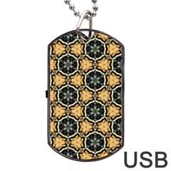 Faux Animal Print Pattern Dog Tag USB Flash (Two Sides)