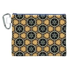 Faux Animal Print Pattern Canvas Cosmetic Bag (XXL)