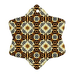 Faux Animal Print Pattern Ornament (snowflake)