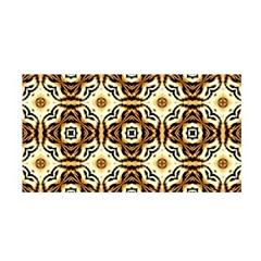 Faux Animal Print Pattern Satin Wrap