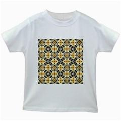 Faux Animal Print Pattern Kids White T Shirts