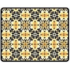 Faux Animal Print Pattern Double Sided Fleece Blanket (Medium)