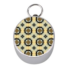 Faux Animal Print Pattern Mini Silver Compasses