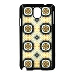 Faux Animal Print Pattern Samsung Galaxy Note 3 Neo Hardshell Case (Black) Front
