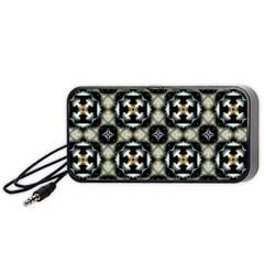 Faux Animal Print Pattern Portable Speaker (Black)