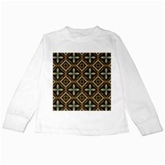 Faux Animal Print Pattern Kids Long Sleeve T-Shirts