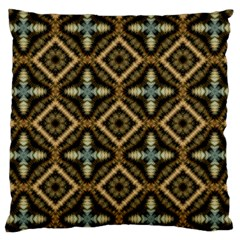 Faux Animal Print Pattern Large Flano Cushion Cases (one Side)